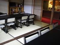 玄関前食事会場 テーブルの高さ57cm