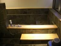 浴室入口幅68cm、段差5cm