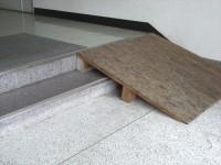 玄関内簡易スロープ