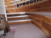 階段の高さ15cm、幅130cm