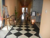 館内レストランの廊下