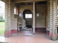 木造建 一般トイレ正面入口