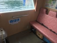 車椅子スペース、乗船口83cm